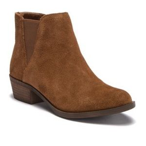 Kensie 8.5 Garry Brown Suede Fall Ankle Booties
